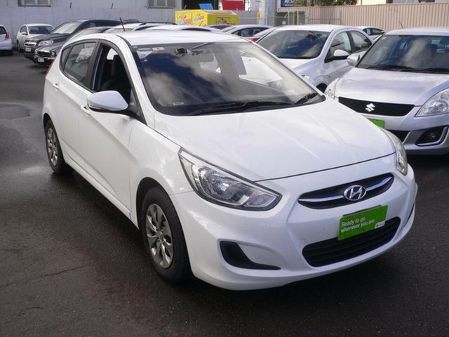 Used Hyundai Accent RB3 MY16 Active St Marys, 2016 Hyundai Accent RB3 MY16 Active White 6 Speed Constant Variable Hatchback