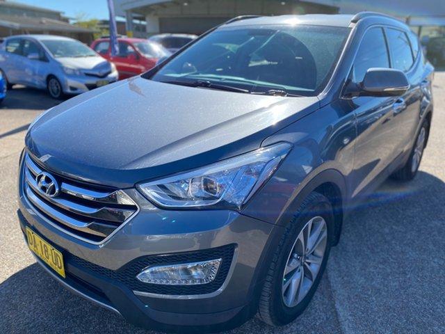 Used Hyundai Santa Fe DM2 MY15 Elite Wickham, 2015 Hyundai Santa Fe DM2 MY15 Elite Grey 6 Speed Sports Automatic Wagon