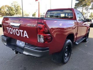 2016 Toyota Hilux GUN126R SR Extra Cab Olympia Red 6 Speed Manual Utility