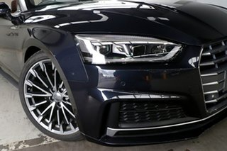 2017 Audi A5 F5 MY18 2.0 TFSI S Tronic Sport Blue 7 Speed Auto Dual Clutch Cabriolet.