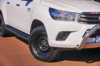 2016 Toyota Hilux GUN126R SR Double Cab White 6 Speed Sports Automatic Cab Chassis.