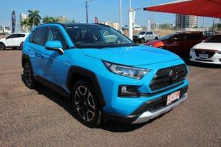 2019 Toyota RAV4 Axaa54R Edge AWD Eclectic Blue 8 Speed Automatic Wagon.
