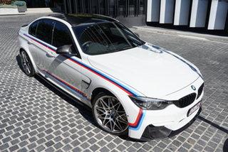 2018 BMW M3 F80 LCI Pure Alpine White 7 Speed Sports Automatic Dual Clutch Sedan.