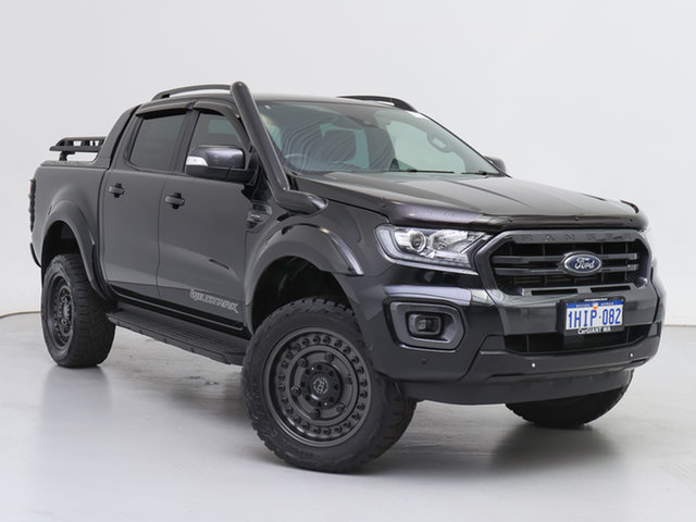 Used Ford Ranger PX MkIII MY19 Wildtrak 2.0 (4x4), 2019 Ford Ranger PX MkIII MY19 Wildtrak 2.0 (4x4) Black 10 Speed Automatic Double Cab Pick Up
