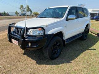 2004 Toyota Landcruiser Prado KZJ120R GXL White 4 Speed Automatic Wagon.
