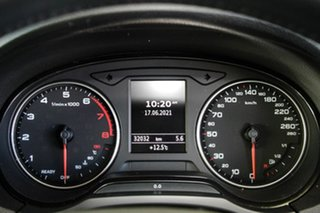 2015 Audi A3 8V MY15 Sportback 1.4 TFSI Attraction Silver 7 Speed Auto Direct Shift Hatchback