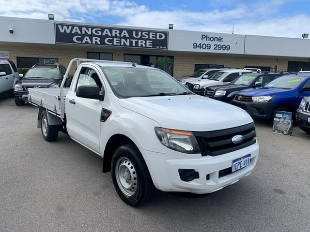 Used Ford Ranger PX XL 2.5 (4x2) Wangara, 2012 Ford Ranger PX XL 2.5 (4x2) White 5 Speed Manual Cab Chassis