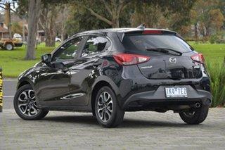 2017 Mazda 2 DJ2HAA Genki SKYACTIV-Drive Black 6 Speed Sports Automatic Hatchback.