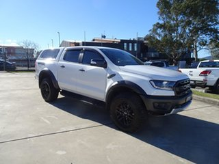 2019 Ford Ranger PX MkIII 2019.7 Raptor White 10 Speed Automatic Double Cab Pick Up.