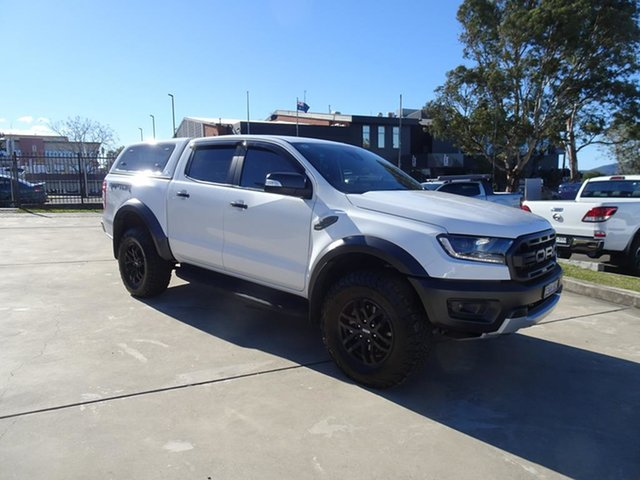 Used Ford Ranger PX MkIII 2019.75MY Raptor Nowra, 2019 Ford Ranger PX MkIII 2019.75MY Raptor White 10 Speed Automatic Double Cab Pick Up