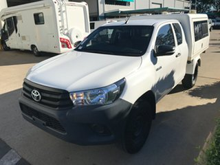 2016 Toyota Hilux GUN125R Workmate Extra Cab Glacier 6 speed Manual Cab Chassis