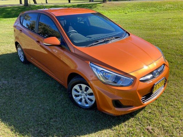 Used Hyundai Accent RB3 MY16 Active South Grafton, 2016 Hyundai Accent RB3 MY16 Active R9a-Vitamin C Pearl Metallic 6 Speed Constant Variable Hatchback