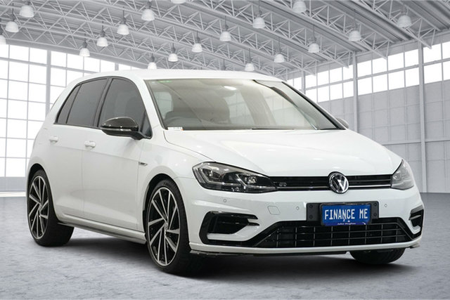 Used Volkswagen Golf 7.5 MY18 R DSG 4MOTION Grid Edition Victoria Park, 2018 Volkswagen Golf 7.5 MY18 R DSG 4MOTION Grid Edition Pure White 7 Speed
