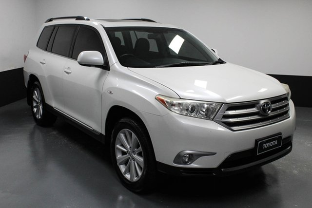 Used Toyota Kluger GSU40R MY12 Altitude 2WD Raymond Terrace, 2013 Toyota Kluger GSU40R MY12 Altitude 2WD White 5 Speed Sports Automatic Wagon
