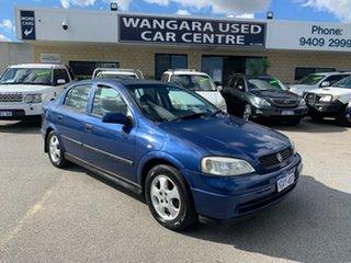 2002 Holden Astra TS City Blue 4 Speed Automatic Sedan.