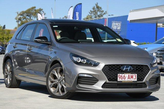 Demo Hyundai i30 PD.V4 MY21 N Line D-CT Premium Aspley, 2020 Hyundai i30 PD.V4 MY21 N Line D-CT Premium Fluidic Metal 7 Speed Sports Automatic Dual Clutch