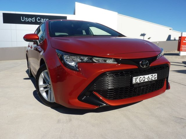 Pre-Owned Toyota Corolla Mzea12R Ascent Sport Blacktown, 2019 Toyota Corolla Mzea12R Ascent Sport Volcanic Red 10 Speed Constant Variable Hatchback
