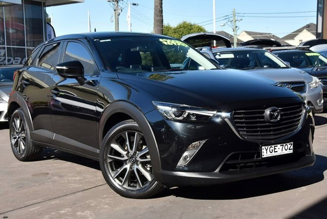 Used Mazda CX-3 DK2W7A sTouring SKYACTIV-Drive Waitara, 2016 Mazda CX-3 DK2W7A sTouring SKYACTIV-Drive Black 6 Speed Sports Automatic Wagon