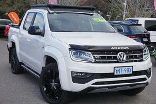 2020 Volkswagen Amarok 2H MY20 TDI580 4MOTION Perm Highline Black Candy White 8 Speed Automatic.