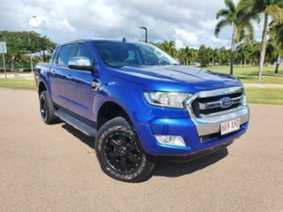 2016 Ford Ranger PX MkII XLT Double Cab Aurora Blue 6 Speed Manual Utility.