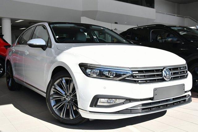 New Volkswagen Passat 3C (B8) MY21 162TSI DSG Elegance Victoria Park, 2021 Volkswagen Passat 3C (B8) MY21 162TSI DSG Elegance Pure White 6 Speed