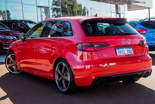 2016 Audi RS 3 8V MY16 Sportback S Tronic Quattro Red 7 Speed Sports Automatic Dual Clutch Hatchback.
