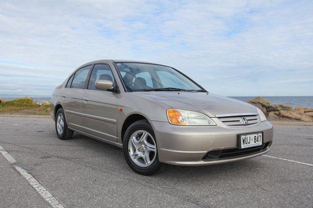 Used Honda Civic 7th Gen MY2002 GLi Lonsdale, 2002 Honda Civic 7th Gen MY2002 GLi Gold 4 Speed Automatic Sedan