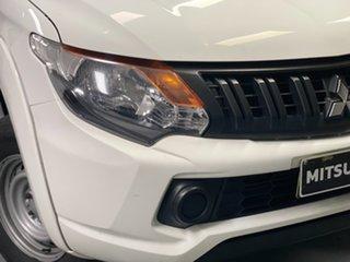2016 Mitsubishi Triton MQ MY17 GLX Double Cab White 5 Speed Sports Automatic Utility.