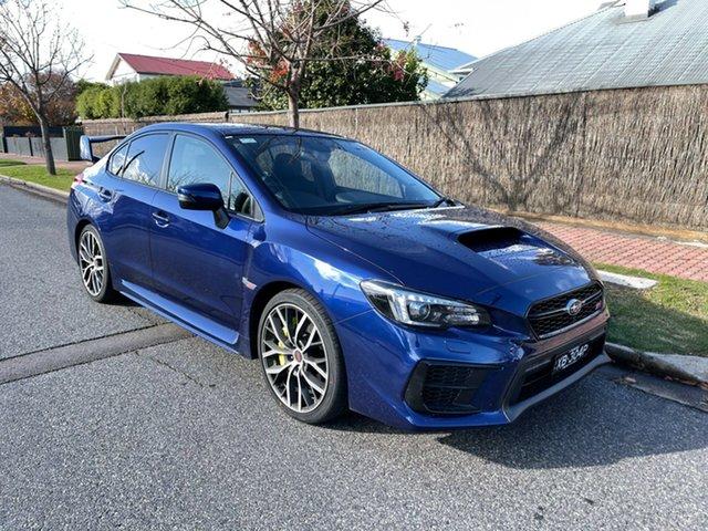 Demo Subaru WRX V1 MY21 STI AWD Premium Glenelg, 2021 Subaru WRX V1 MY21 STI AWD Premium Lapis Blue 6 Speed Manual Sedan