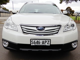 2012 Subaru Outback B5A MY12 3.6R AWD Premium White 5 Speed Sports Automatic Wagon.