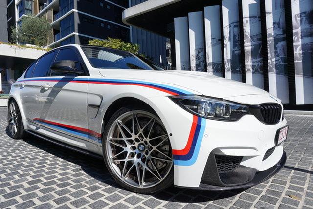 Used BMW M3 F80 LCI Pure East Brisbane, 2018 BMW M3 F80 LCI Pure Alpine White 7 Speed Sports Automatic Dual Clutch Sedan