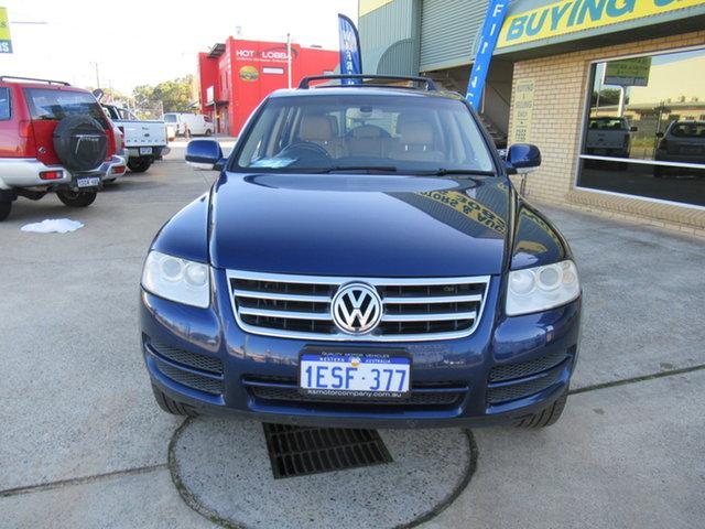 Used Volkswagen Touareg 7L V6 FSI Mandurah, 2007 Volkswagen Touareg 7L V6 FSI Blue 6 Speed Automatic Wagon