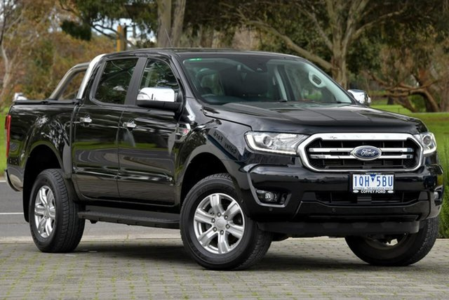 Used Ford Ranger PX MkIII 2019.00MY XLT Dandenong, 2019 Ford Ranger PX MkIII 2019.00MY XLT Black 10 Speed Sports Automatic Super Cab Pick Up