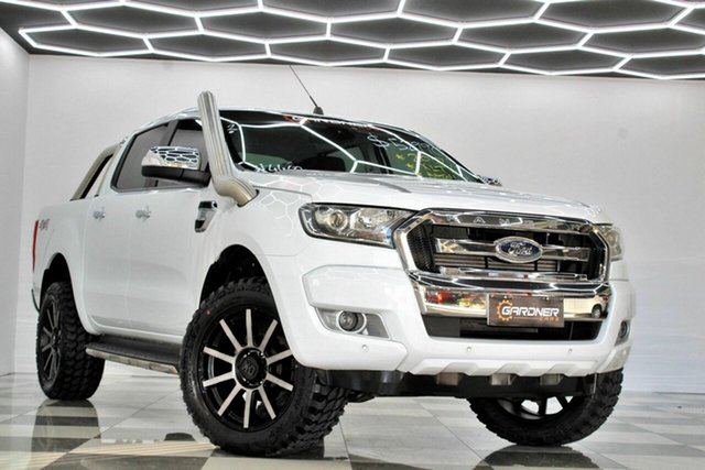 Used Ford Ranger PX MkII MY17 XLT 3.2 (4x4) Burleigh Heads, 2017 Ford Ranger PX MkII MY17 XLT 3.2 (4x4) White 6 Speed Automatic Double Cab Pick Up