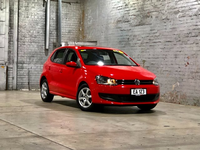 Used Volkswagen Polo 6R MY12.5 77TSI DSG Comfortline Mile End South, 2012 Volkswagen Polo 6R MY12.5 77TSI DSG Comfortline Red 7 Speed Sports Automatic Dual Clutch