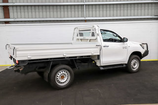 2016 Toyota Hilux GUN126R SR White 6 Speed Sports Automatic Cab Chassis