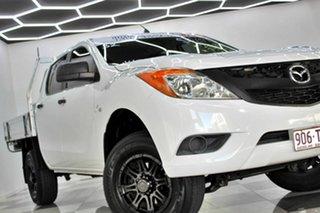 2013 Mazda BT-50 MY13 XT Hi-Rider (4x2) White 6 Speed Manual Dual Cab Chassis.