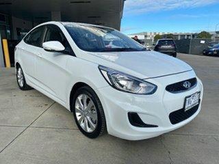 2018 Hyundai Accent RB6 MY18 Sport Chalk White 6 Speed Sports Automatic Sedan.
