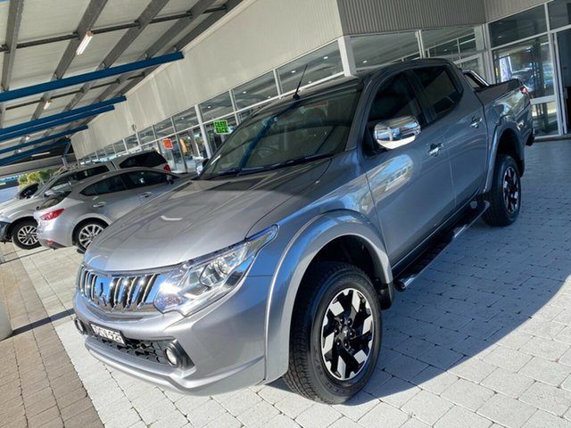 Used Mitsubishi Triton Exceed Taree, 2015 Mitsubishi Triton Exceed Silver Sports Automatic Dual Cab Utility
