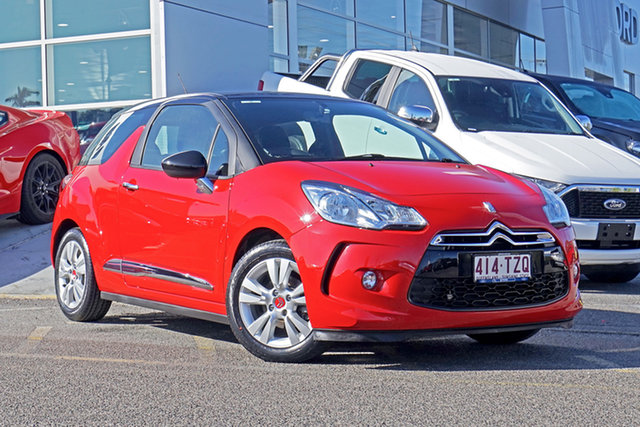 Used Citroen DS3 MY13 DSIGN Springwood, 2013 Citroen DS3 MY13 DSIGN Red 5 Speed Manual Hatchback