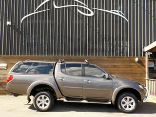 2013 Mitsubishi Triton MN MY13 GLX-R Double Cab Brown 5 Speed Sports Automatic Utility.
