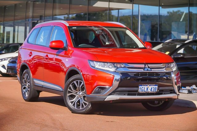 Used Mitsubishi Outlander ZL MY18.5 LS 2WD Gosnells, 2018 Mitsubishi Outlander ZL MY18.5 LS 2WD Red 6 Speed Constant Variable Wagon