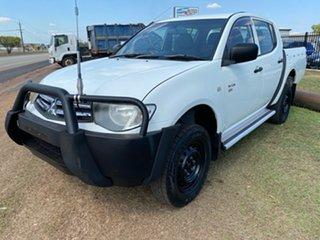 2009 Mitsubishi Triton ML MY09 GLX-R Double Cab White 5 Speed Manual Utility.