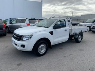 2012 Ford Ranger PX XL 2.5 (4x2) White 5 Speed Manual Cab Chassis.