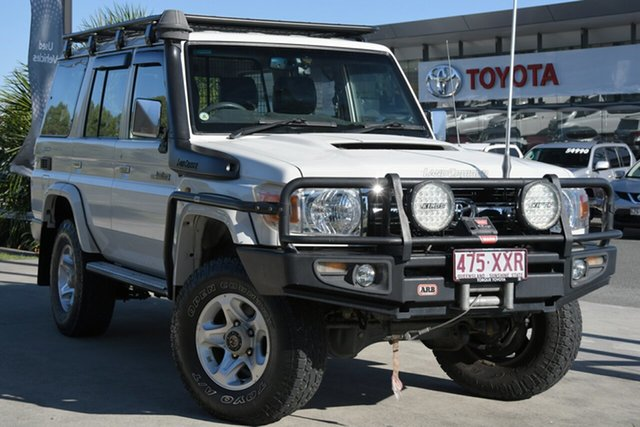 Pre-Owned Toyota Landcruiser VDJ76R MY10 GXL North Lakes, 2011 Toyota Landcruiser VDJ76R MY10 GXL French Vanilla 5 Speed Manual Wagon
