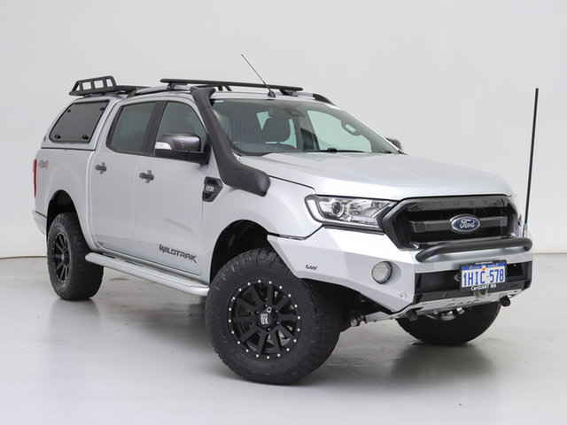 Used Ford Ranger PX MkII MY18 Wildtrak 3.2 (4x4), 2018 Ford Ranger PX MkII MY18 Wildtrak 3.2 (4x4) Silver 6 Speed Automatic Dual Cab Pick-up