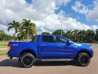 2016 Ford Ranger PX MkII XLT Double Cab Aurora Blue 6 Speed Manual Utility