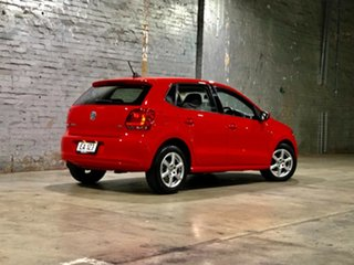 2012 Volkswagen Polo 6R MY12.5 77TSI DSG Comfortline Red 7 Speed Sports Automatic Dual Clutch