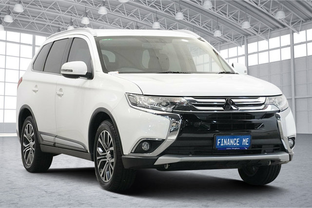 Used Mitsubishi Outlander ZK MY16 XLS 4WD Victoria Park, 2016 Mitsubishi Outlander ZK MY16 XLS 4WD White 6 Speed Constant Variable Wagon