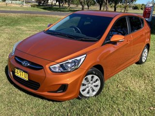 2016 Hyundai Accent RB3 MY16 Active R9a-Vitamin C Pearl Metallic 6 Speed Constant Variable Hatchback.